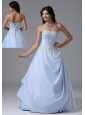 Light Blue Sweetheart and Appliques Bodice For 2013 Prom Dress In Alaska