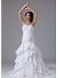 Mermaid and Ruched Bodice Ruffled Layeres For Wedding Dress