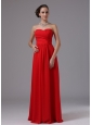 Red Sweetheart and Ruched In Arizona For Prom Dress Chiffon Floor-length