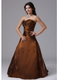 Rust Red Ruched Bodice and Sweetheart For Modest Plus Size Prom Dress With Taffeta In Arizona