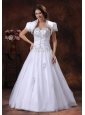 A-line White Sweetheart Embroidery Decorate Wedding Dress In Prescott Arizona