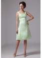 Apple Green Straps A-line Knee-length Bridesmaid Dress For Custom Made In Brunswick Georgia