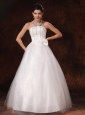 Auburn Alabama Bowknot A-line Floor-length Customize Stylish Wedding Dress For 2013
