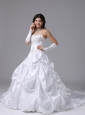 Carpinteria California City With Appliques Bodice For 2013 Wedding Dress Custom Made