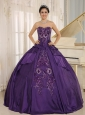 Eggplant Purple Embroidery Quinceanera Dress With Sweetheart In 2013