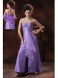 Halter Beading Chiffon Empire Lilac Formal Evening Prom Dress