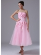 Handle-Made Flower maxi Sweetheart Pink Tulle 2013 Sweet Short Wedding Dress
