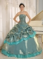 Multi-color Embroidery Decorate Quinceanera Dress Clearance With Strapless In Oruro