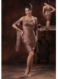 Brown Mother Of The Bride Dress Clearance With Strapless Beaded and Ruch Decorate In Cave Creek Arizona