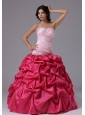 Coral Red and Rose Pink For Military Ball Gowns With Ruched Bodice Beading In Aptos California
