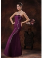 Customize Mermaid Dark Purple Mother Of The Bride Dress With Beaded Decorate On Taffeta In Peoria Arizona