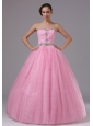 Rose Pink Military Ball Gowns With Sweetheart and Beaded Decorate Bodice In Bonita California