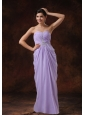 Beading Lilac Empire Beading Chiffon Sweetheart Evening Dress Floor-length
