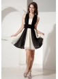 Colorful Halter Neckline Chiffon Prom Dress With Ruch Decorate