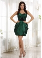Dark Green Sweetheart Prom Cocktail Dress With Sweetheart Ruch 2013