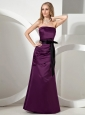 Dark Purple Sash and Ruch For Custom Made Bridesmiad Dress