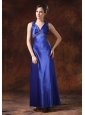 Maxi Beaded Decorate Waist Halter Column / Sheath Evening Dress Backless