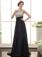 Navy Blue Column Sweetheart Neck Beaded Satin Stylish Prom Gowns