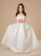 Sashes / Ribbons Scoop Affordable Taffeta 2013 Flower Girl Dress Floor-length