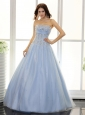 Baby Blue and Beaded Bodice For 2013 Prom / Evening Dress