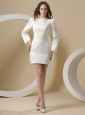 Bateau and Long Sleeves For Mother Of The Bride Dress