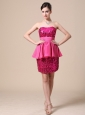 Paillette Over Skirt and Strapless Short Prom/Homecoming DressesFor 2013