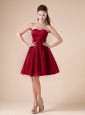 Ruched Decorate Sweetheart Neckline Knee-length Taffeta 2013 Prom / Homecoming Dress