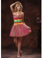2013 Colorful Sweetheart Beaded Mini-length Club Cocktail Dress For Custom Made