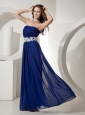 Appliques Decprate Waist Royal Blue For Prom Dress