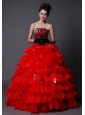 Layer Rhinestone A-Line / Princess Quinceanera Dress