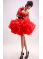 One Shoudler Ball Gown Prom Dress With Ruffled Layers