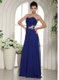 Royal Blue Appliques With Beading Sweetheart Prom Dress For Custom Made