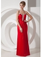 Beaded Decorate Shoulder Chiffon Column Straps 2012 Prom Dress Criss Cross