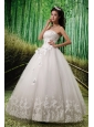 Elegant Appliques With Beading Wedding Dress For Custom Made