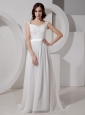 Empire Off Shoulder Chiffon Court Train Designer New Style 2013 Prom Gowns