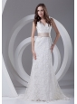 Lace V-Neck Sashes / Ribbons Brush / Sweep Beautiful Wedding Dress Column