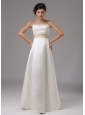 Sash Strapless and Floor-length For Modest Wedding Dress