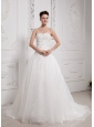 Stylish A-line Sweetheart Wedding Gowns With Organza Beading Decorate Bust