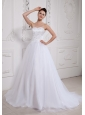 2013 Custom Made Princess Wedding Gowns Beaded Decorate Bust Sweetehart With Tulle