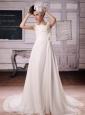 2013 Custom Made Straps Wedding Dress With Ruch and Appliques In Wedding Party