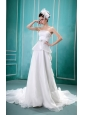 2013 Discount Strapless Wedding Dress With Ruch and Beading In Wedding Party
