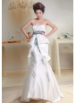 2013 Wedding Dress With Beaded Sash and Appliques Decorate