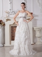 Elegant Wedding Dress For Wedding Party In 2013 New Arrival Lace and Chiffon Beaded and Ruffled Layers Decorate