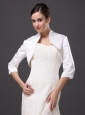 3/4 Sleeves Classical High-neck Satin Jacket For Wedding and Other Occasion