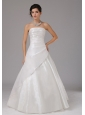 A-line Wedding Dress With Ruch Bodice Organza Floor-length Strapless