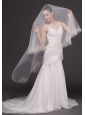 Beading Tulle Modest Bridal Veil For Wedding
