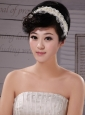 Imitation Pearls Lace Special Occasion Fascinators / Hairband