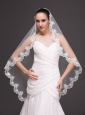 Hot Selling Tulle With Appliques One-tier Wedding Veil
