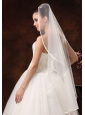 One-tier Organza Fingertip Wedding Veil