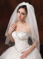Two-Layers Embroidery Tulle Stylish Wedding Veils